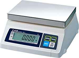 CAS SW-50Z Food Service Scale, Lb/Oz Switchable, 50 x 0.02 lbs