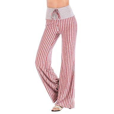 VPASS Mujer Pantalones,Impresión Pantalones de Yoga Mujer ...