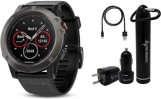 Garmin Fenix 5X Sapphire Multisport Reloj GPS con Mapas Topo Precargados y Wearable4U Ultimate Power Bundle: Amazon.es: Electrónica