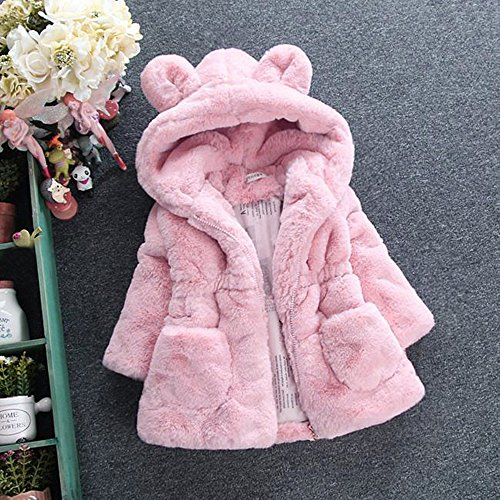 Amazon.com: Littleice Baby Girls Jacket, Toddler Kids Faux Fur Autumn Winter Hooded Coat Cloak Jacket Thick Warm Clothes Tops: Clothing