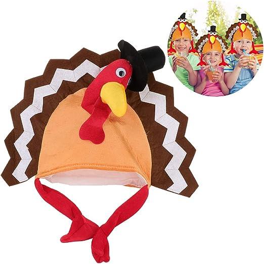 Kylewo Disfraz de Pavo de Acción de Gracias Sombrero, Sombrero ...