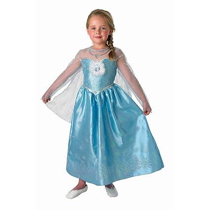 Disfraz de reina Elsa vestido de princesa Disney Deluxe para ...
