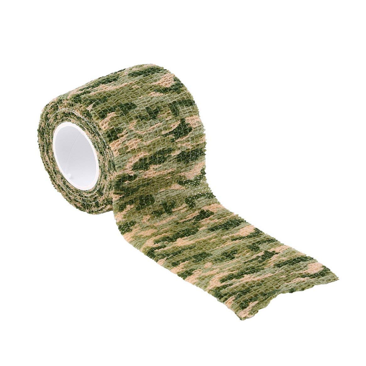 Delicacydex Elastico Camouflage impermeabile Caccia esterna Campeggio Stealth Camo Wrap Tape militare Airsoft Paintball Stretch Bandage