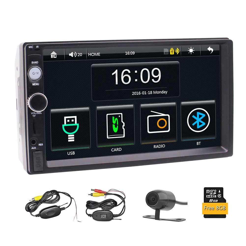 EINCAR Estéreo Coche 2 DIN 7 Pulgadas de Pantalla táctil de navegación GPS Bluetooth Radio de Coche con TF / / Control de cámara de visión Trasera Remoto FM ...