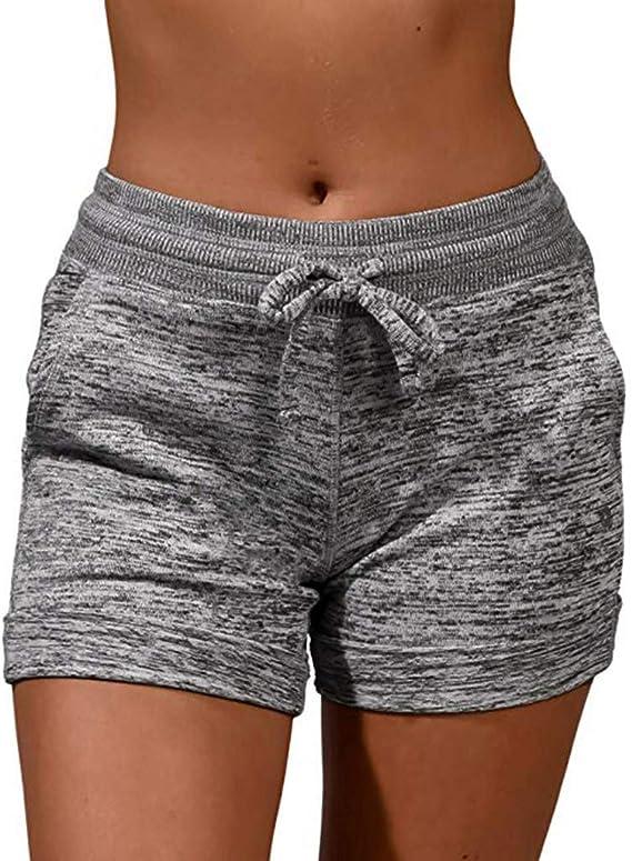 Luckycat Pantalones Cortos de Suelto para Mujer Leggings de Deportes Yoga Ejercicio Running pantalón Deportes de Ocio Mujeres de Verano Pantalones Cortos de Cintura con Cordón Y Cordones para Mujer: Amazon.es: Relojes