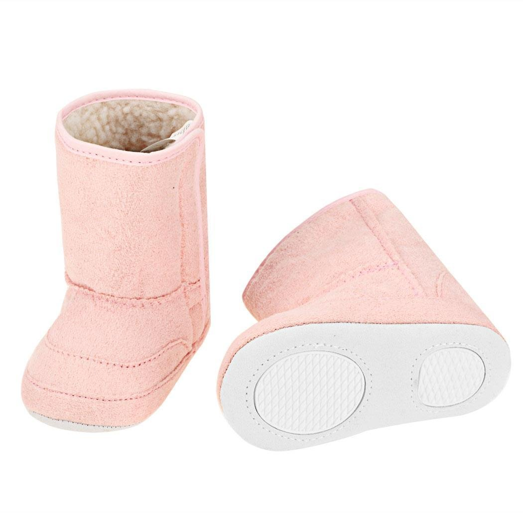 Goodfans Fashion Cute Newborn Unisex Baby Fleece Bootie Casual Solid Anti-Skid Soft Warm Short Snow Boot