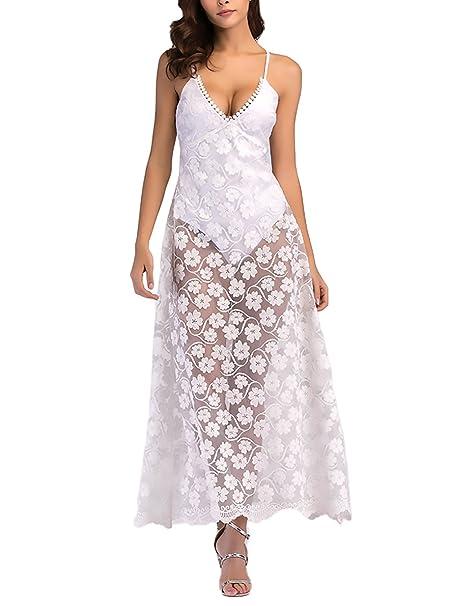 Vestidos largos con manga transparente