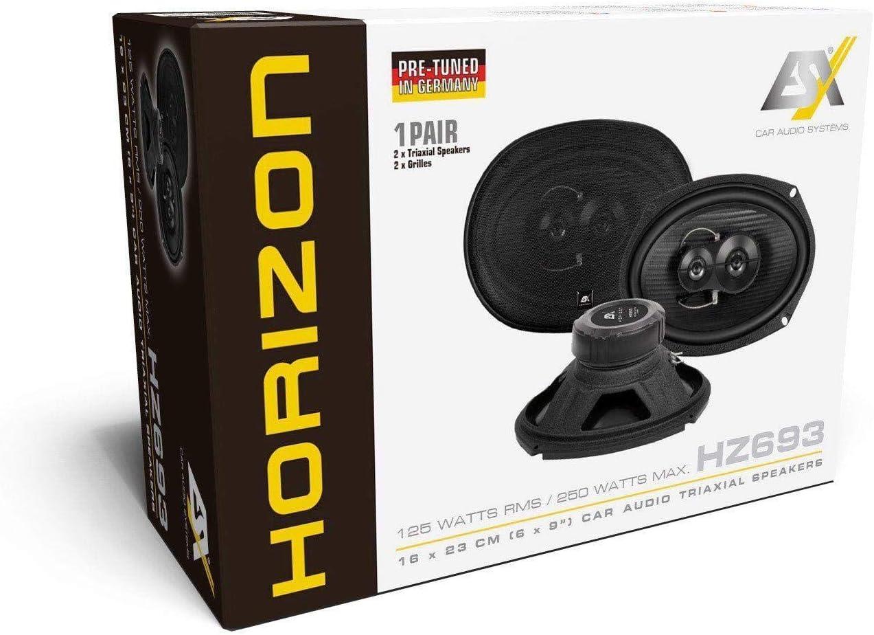 Esx Hz693 Horizon 6 X 9 Oval 16 X 23 Cm 3 Wege Koax Lautsprecher Navigation