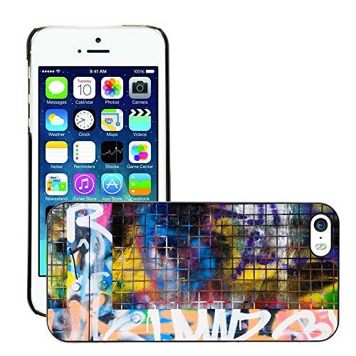 Premio Sottile Slim Cassa Custodia Case Cover Shell // V00002364 frontière Graffiti // Apple iPhone 5 5S 5G