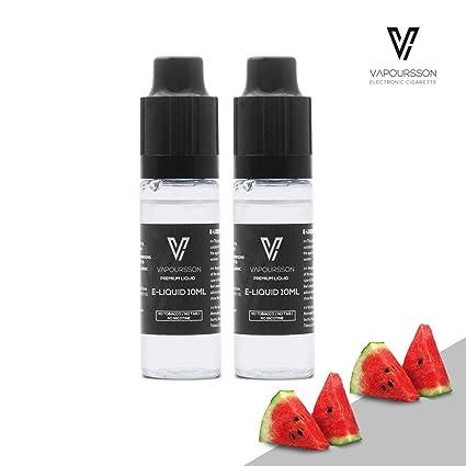 VAPOURSSON 2 X 10ml E Líquido| Sandía| 2 botellas de la Nueva Fórmula Para