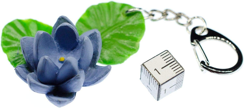 Seerose Schlüsselanhänger Miniblings Blume Garten Blumen Hartgummi blau Blüte