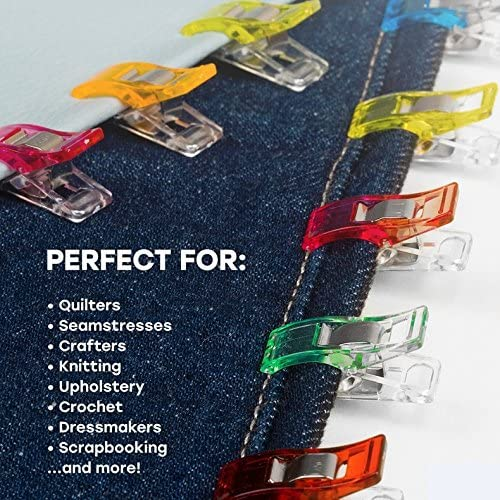 Quilt Clips Assorted Colors for Sewing Binding,Crafts,Fabric,Paper Work and Hanging Little Things Etc. ILamourCar 50 Pcs Multipurpose Sewing Clips for Quilting Crafting
