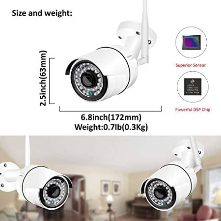 Amazon.com: LLCOFFGA Wireless Security Camera System with 2TB HDD 1080P HD NVR Recorder 12 Inch Monitor Home CCTV Surveillance System Night Vision Motion ...