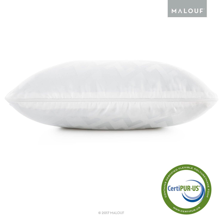 Z Side Sleeper Shoulder Cutout Gel DOUGH Memory Foam Pillow with Liquid Gel Layer - Queen by MALOUF (Image #5)