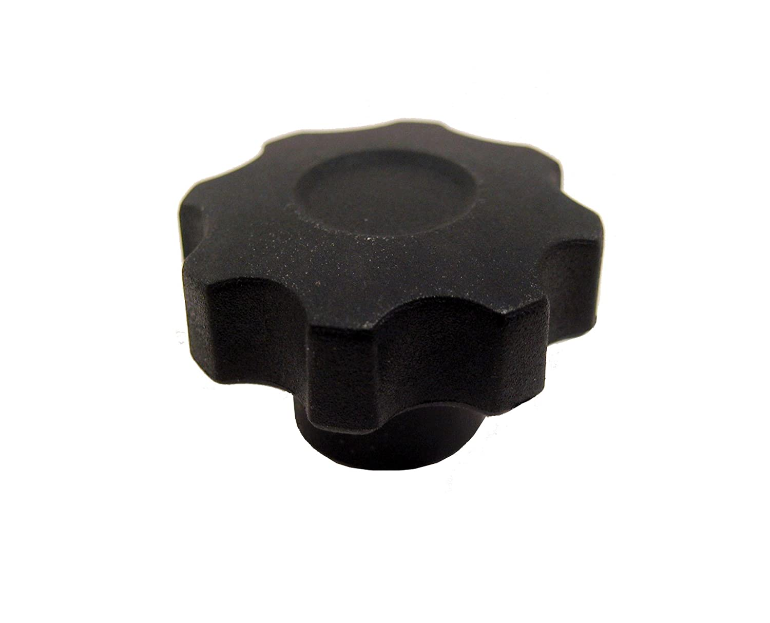 Pack of 1 JW Winco Glass Filled Nylon Plastic Eight Lobed Hand Knob with Tapped Brass Insert 55mm Head Diameter Threaded Hole M10 x 1.5 Thread Size x 15mm Thread Depth