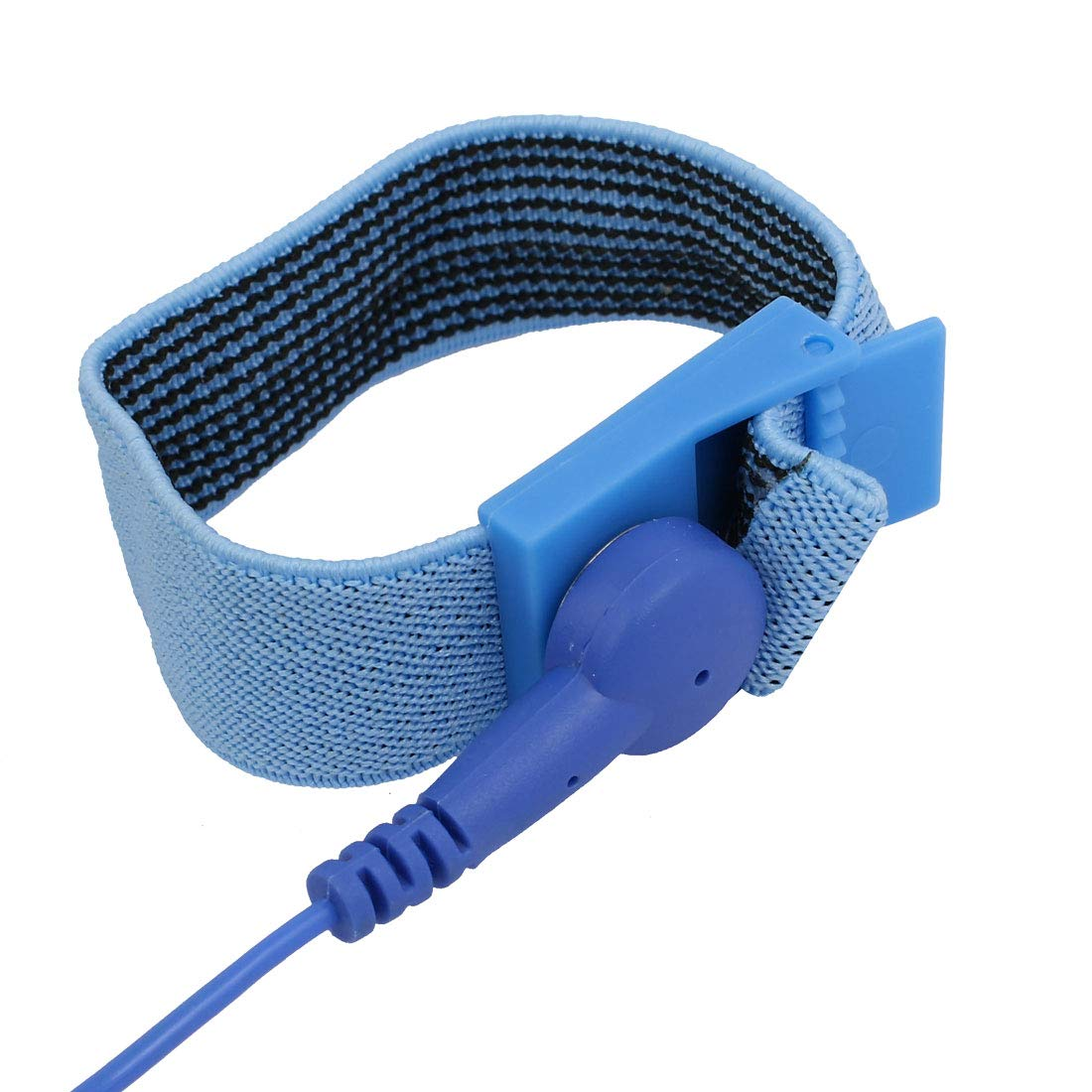 sourcing map Alligatorclip Stretchy Wristband Anti-Statik ESD-Band-Armband mit Gummiband