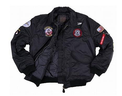 le dernier 72a6e 3b9ea Fostex garments Blouson Aviateur Bombers B-52 Top Gun Noir Enfant avec  Porte Clé