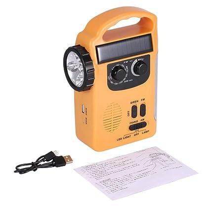 Linterna portátil multifunción/solar / con batería Dynamo con radio AM/FM y linterna