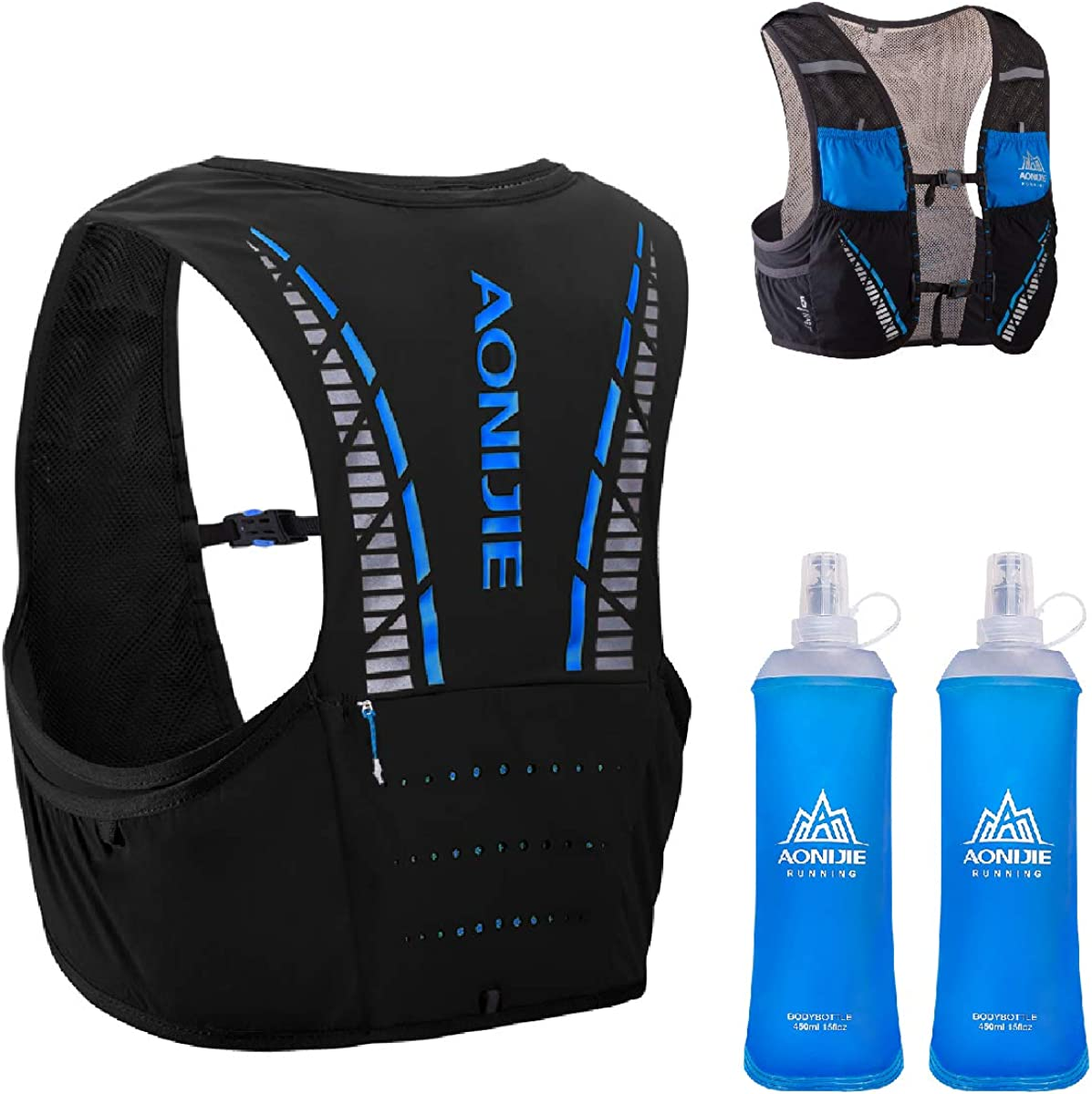 TRIWONDER 5L Hydration Vest Trail Hydration Pack Backpack Marathon Running Vest