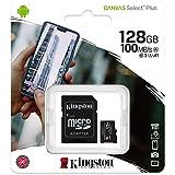 SDCS2128GB - Cartão de memória microSD de 128GB Canvas Select Plus - Leitura: 100MBs - Classe 10 com adaptador SD