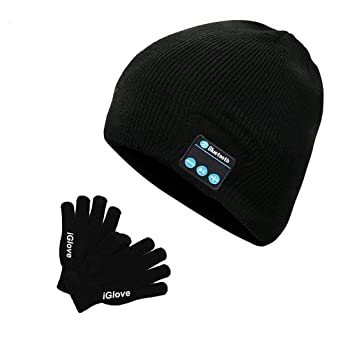 27374f56799f Bonnet Bluetooth et Gant Tactile Bonnet Musique Beanie avec Ecouteurs  Intégré sans Fil Unisexe Rechargeable Music
