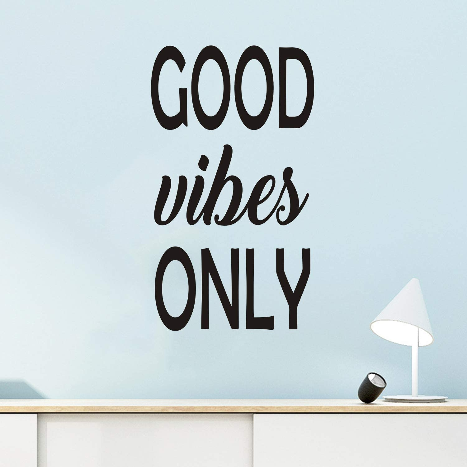 VODOE Inspirational Wall Decals, Office Wall Decals, Quotes Bedroom Kitchen Bathroom Classroom Dorm Women Girls Dance Positive Inspired Sayings Vinyl Art Home Decor Stickers Good Vibes Only 12