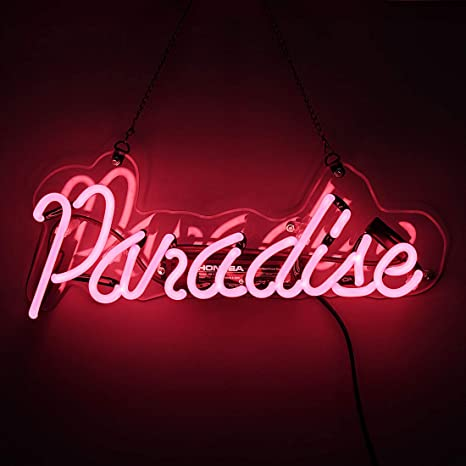 Neon Light Sign Paradise Neon Bar Sign Handmade Glass Neon Sign for Gift  Pub Recreation Room 3013d06b2