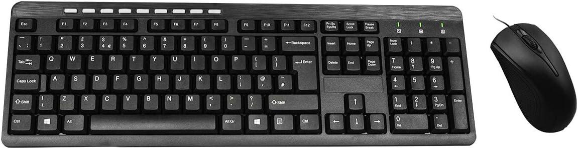 Builder KBMS USB QWERTY Inglés del Reino Unido Negro - Teclado (Estándar, Alámbrico, USB, QWERTY, Negro, Ratón Incluido)