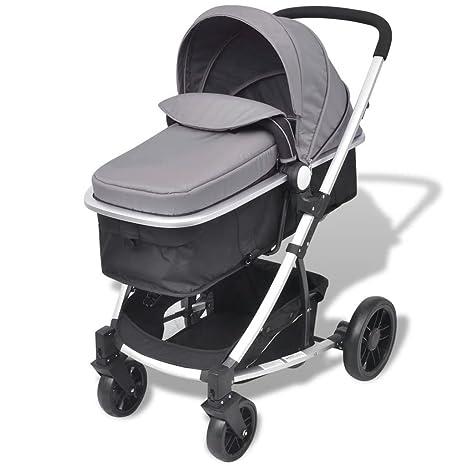 yorten Carro de bebé Plegable Carrito 2 en 1 Cuna de Viaje ...