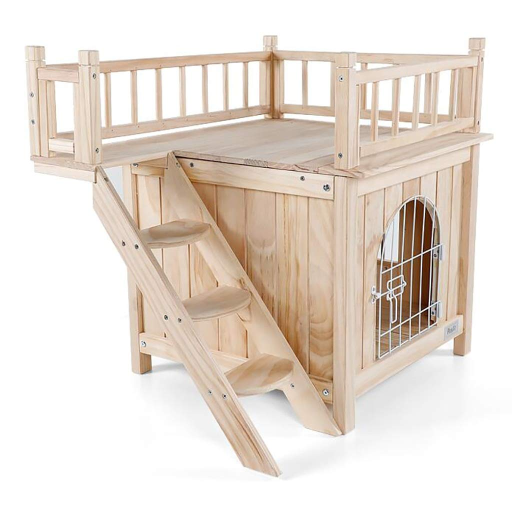 Kennel Dog House Cat Room Puppy nest Cat nest pet Bed Pet House Four Seasons Universal Indoor and Outdoor Solid Wood