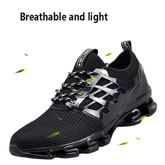 ASDFGH Zapatillas de Running para Hombre, Zapatillas de Deporte Transpirables y con absorción de Golpes Zapatillas de Tenis para Correr en Pista de Tenis ...