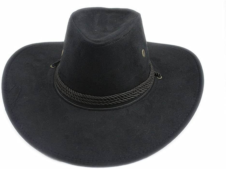 Bull Rider Winding Fedora Cowboy Hat Jazz Floppy Wide Brim Sunhat Panama  Cap at Amazon Women s Clothing store  8371194e5ce