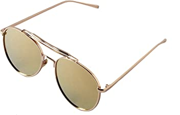 20bd93bf9581 Aviator Sunglasses Gold Frame   Gold Mirror Lens 58mm