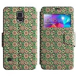 LEOCASE rueda dentada Funda Carcasa Cuero Tapa Case Para Samsung Galaxy S5 I9600 No.1002613
