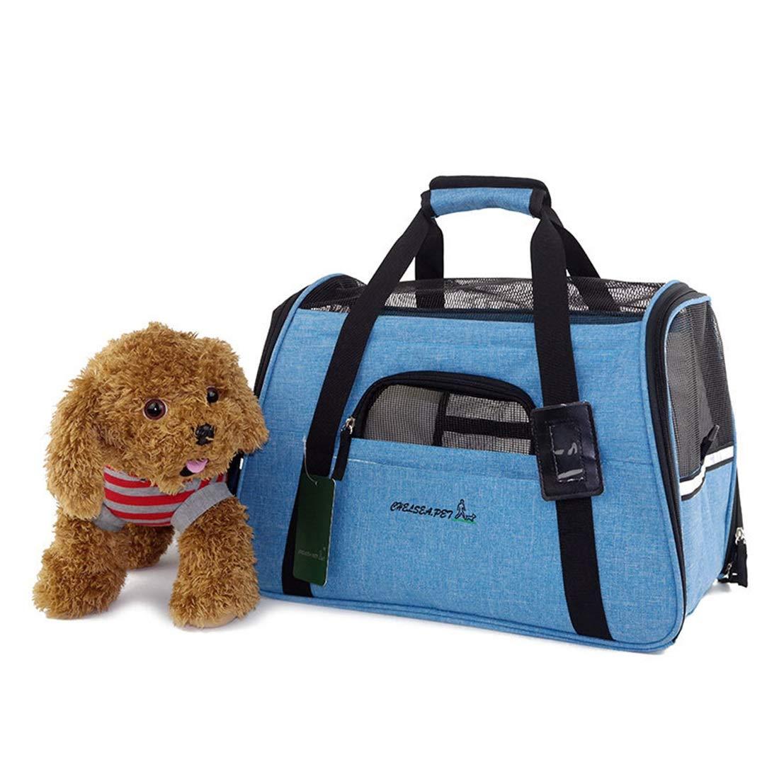 JINHONGH Outing Pet Supplies Traspirante Traspirante Traspirante Cat Litter Kennel Mesh Shoulder Bag Borsa da Viaggio per Animali da Compagnia (Colore   Water blu, Dimensione   45X26X28cm) 3c1941