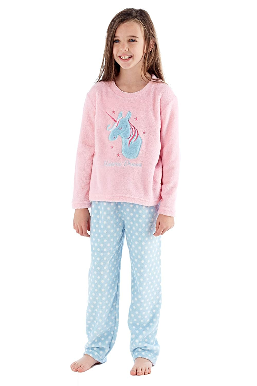 cb33152e4cd1 Selena Secrets Girls Kids Unicorn Dreams Pyjamas  Amazon.co.uk  Clothing