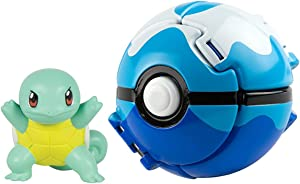 Throw 'N' Pop Poké Ball, Pikachu Figure and Poke Ball Action Figure Toy (Squirtle and Dive Poké Ball)