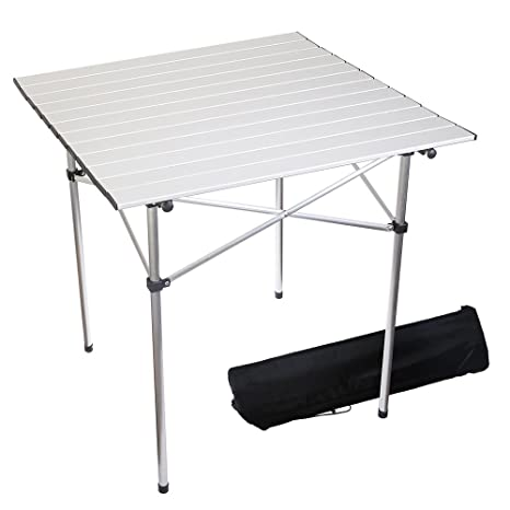 Fabulous Forbidden Road Portable Aluminum Folding Camping Table 27 5 L X 27 5 W X 27 5 H Lightweight Picnic Table With Storage Bag Stable Durable Easy Download Free Architecture Designs Scobabritishbridgeorg