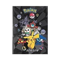 Pokémon - Agenda Année Scolaire 2018-2019 - Multilingue - 17x12cm - Noir