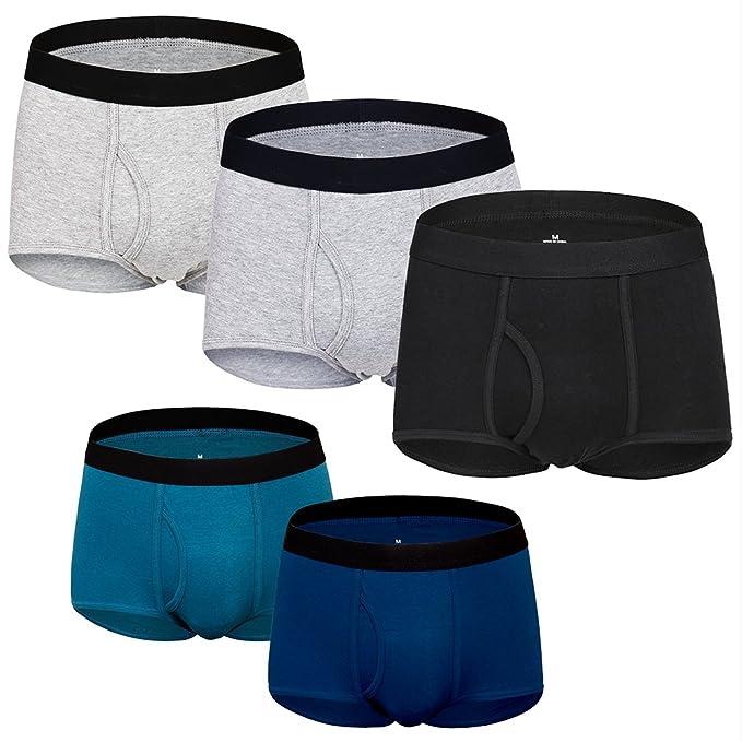 Calzoncillos Slip Ropa Interior Masculina Ajustados para Hombre Boxer Hombre de Algodón Paquete de 3 (