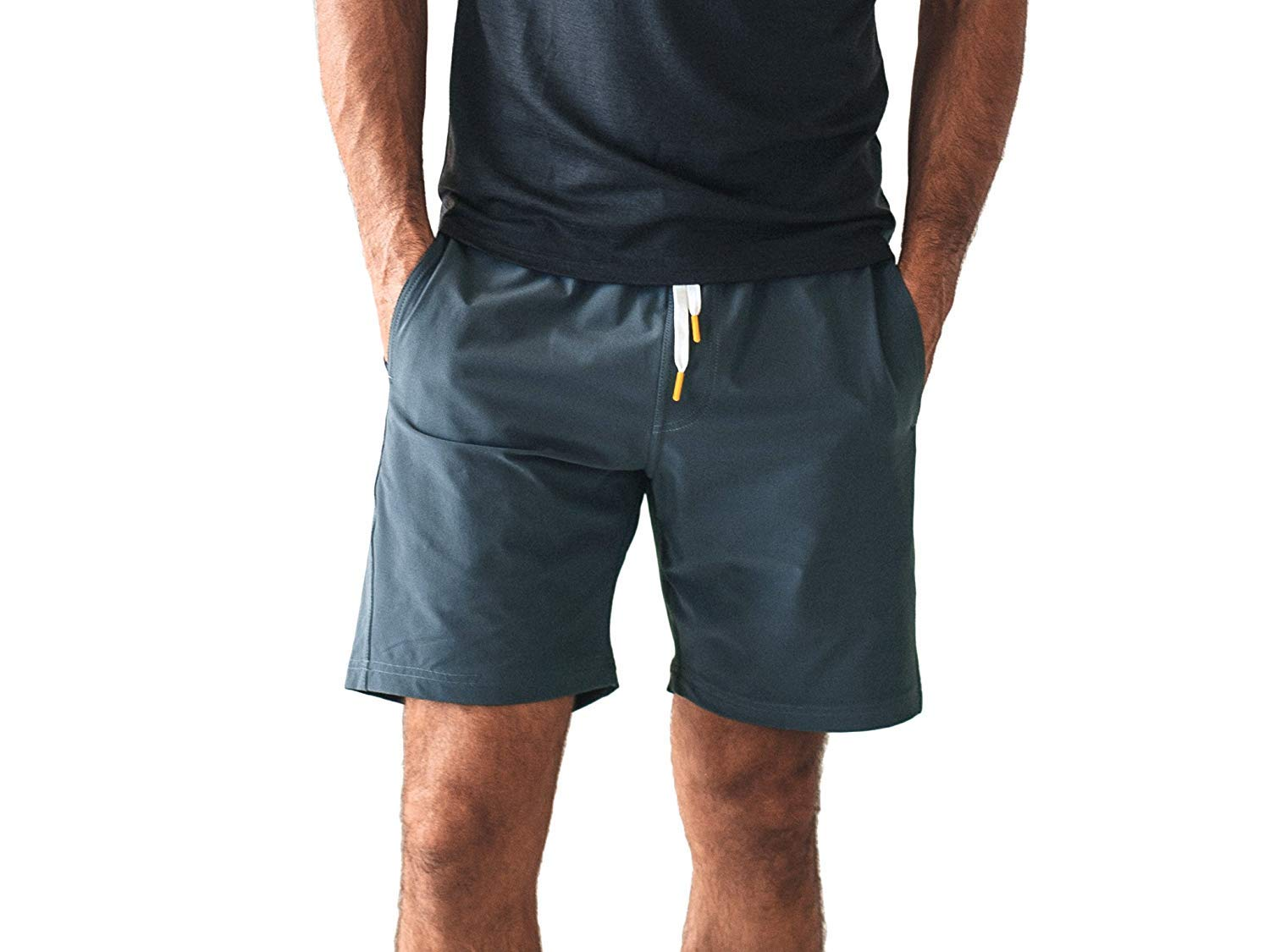 OLIVERS Apparel, Mens Water Repellent, 4-Way Stretch, All Over Short. Perfect for Running, Yoga, and Weightlifting (Small, Cobalt)