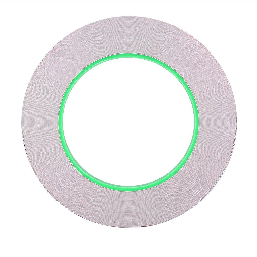 Alomejor - Cinta Adhesiva de de Cobre de Adhesiva Doble Cara para Guitarra y emoticonos, Manualidades, Reparaciones eléctricas, Suelo, 7.6 cm / 2.99 Inch 380ce3