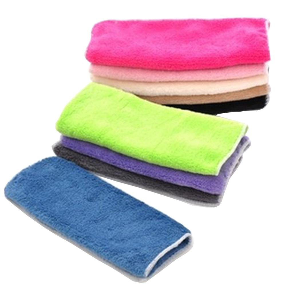 YJYdada 1PC Anti-grease Cloth Bamboo Fiber Washing Towel Magic Kitchen Cleaning Wiping Rags,Random Color