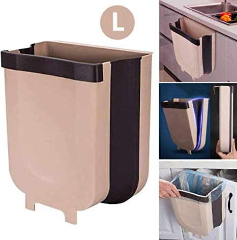 Patgoal Hanging Kitchen Trash Can Kitchen Waste Bins Collapsible Garbage Bin For Cabinet Car Bedroom Bathroom Kitchen Trash Cans