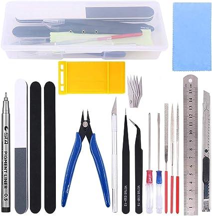 reparaci/ón y fijaci/ón de Modelos Magic Show 10 Piezas del Kit de Herramientas b/ásicas Gundam Model Hobby Building Tools Craft Set para la construcci/ón