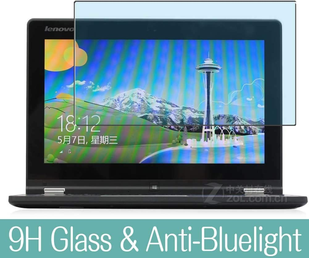 """Synvy Anti Blue Light Tempered Glass Screen Protector for Lenovo Yoga 2 11.6"""" Visible Area 9H Protective Screen Film Protectors (Not Full Coverage)"""