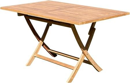 Amazon De Ass Echt Teak Holz Klapptisch Holztisch Gartentisch