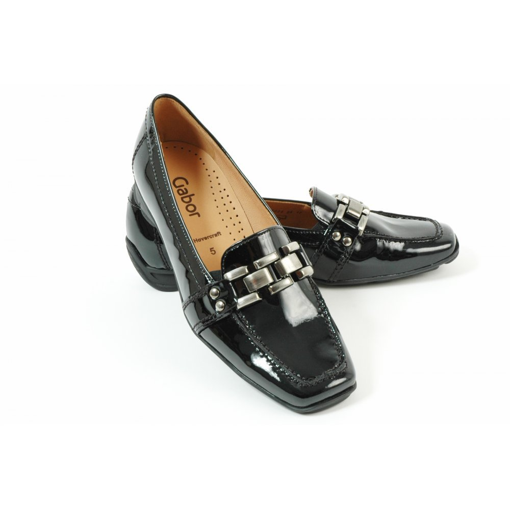 8819f5b817621 Gabor Clico 35.334.97 black patent hovercraft sole loafer BLACK PATN 9:  Amazon.co.uk: Shoes & Bags