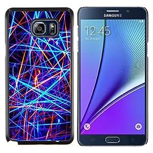 Stuss Case / Funda Carcasa protectora - Neón brillantes colores Rojo Negro - Samsung Galaxy Note 5