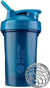 BlenderBottle Classic V2 Shaker Bottle, 20-Ounce, Ocean Blue